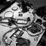 UV and PS sol 375 Navcam 2013-08-26 08 56 59 UTC.  Image Credit: NASA/JPL-Caltech