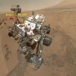 Situation Image of part of the sensors that compose REMS over MSL.  On Sol 84 (Oct. 31, 2012), NASA's Curiosity rover used the Mars Hand Lens Imager (MAHLI) to capture this set of 55 high-resolution images, which were stitched together to create this full-color self-portrait.  Image Credit: NASA/JPL-Caltech/Malin Space Science Systems