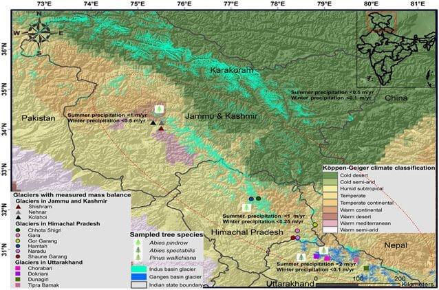 Los glaciares del Himalaya perdieron una gran cantidad de masa en las fases posteriores de la Pequeña Edad de Hielo