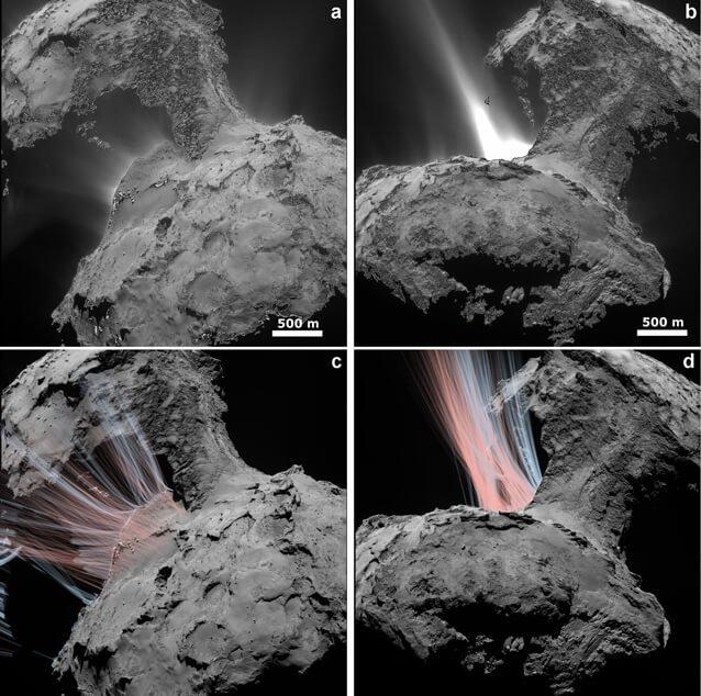 Desvelando la coma del cometa 67P de la mano de OSIRIS