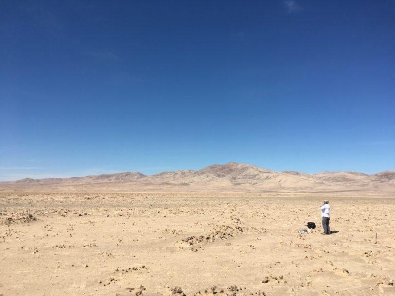 Arcillas húmedas en Atacama